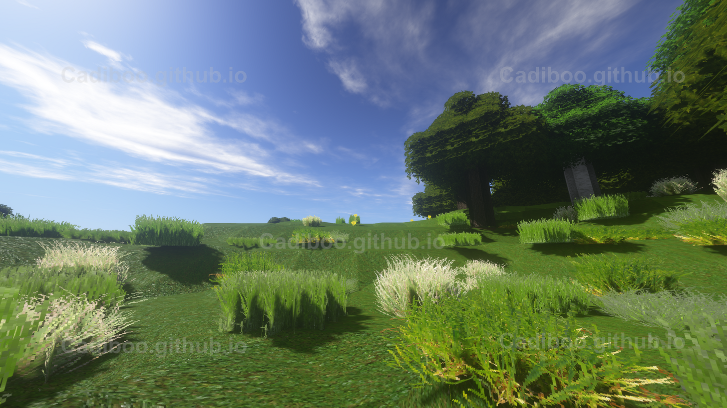 NoCubes (Marching Cubes Algorithm) with Shaders in Plains Biome